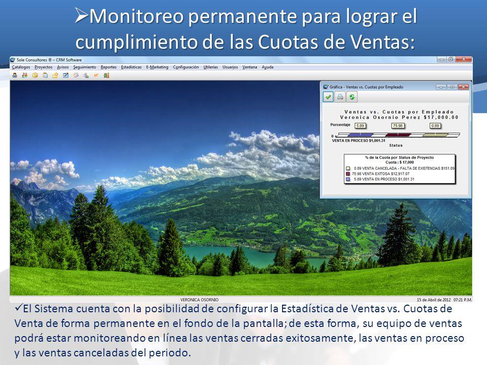Monitoreo permanente para lograr el cumplimiento de las Cuotas de Ventas: Monitoreo permanente para lograr el cumplimiento de las Cuotas de Ventas: El