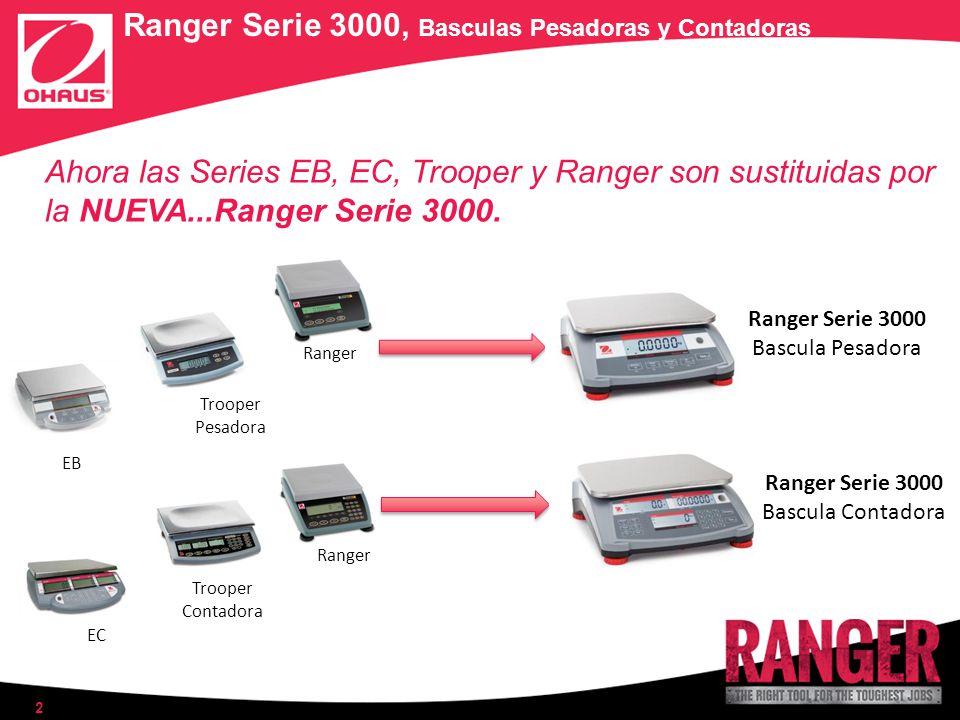 Ranger Serie 3000, Basculas Pesadoras y Contadoras Ahora las Series EB, EC, Trooper y Ranger son sustituidas por la NUEVA...Ranger Serie 3000. 2 EB EC