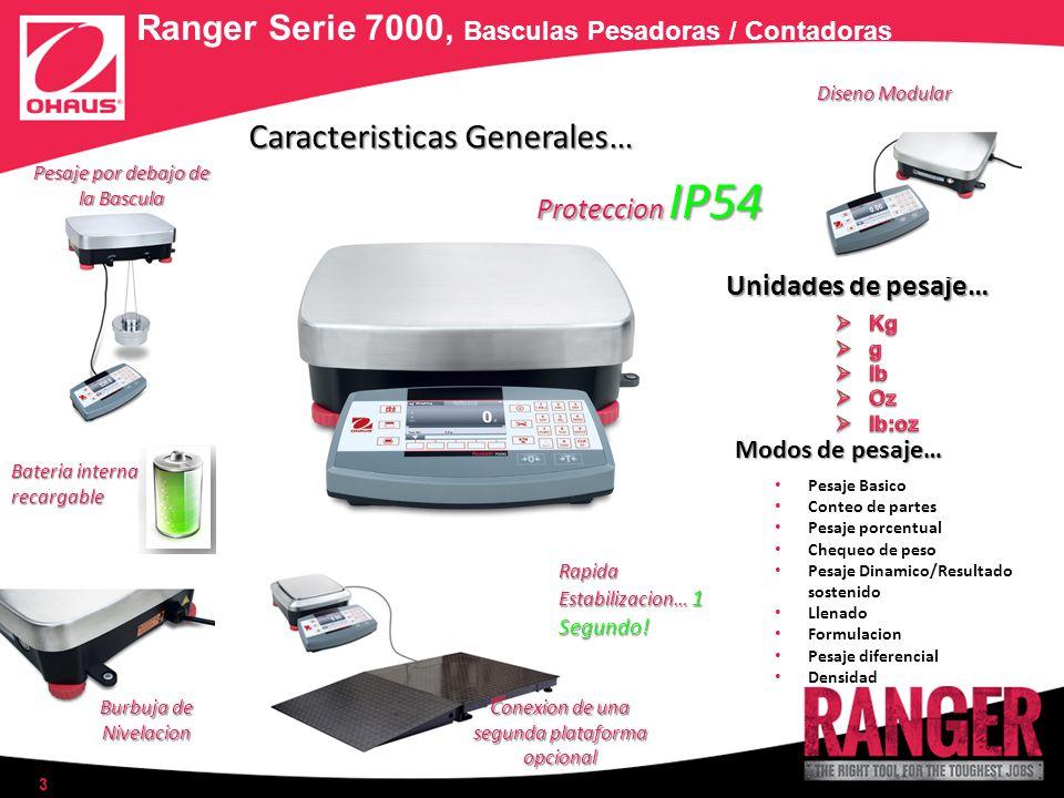 4 Ranger Serie 7000, Basculas Pesadoras / Contadoras Software SmarText 2.0 Amigable y de facil navegacion.