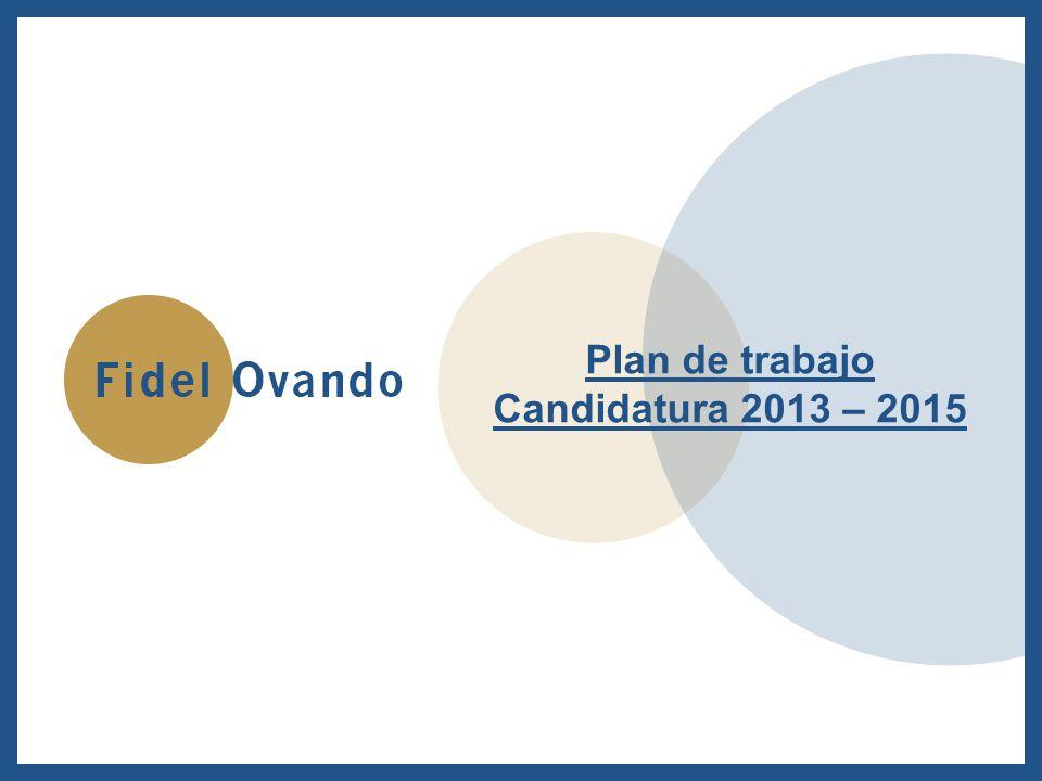 Plan de trabajo Candidatura 2013 – 2015