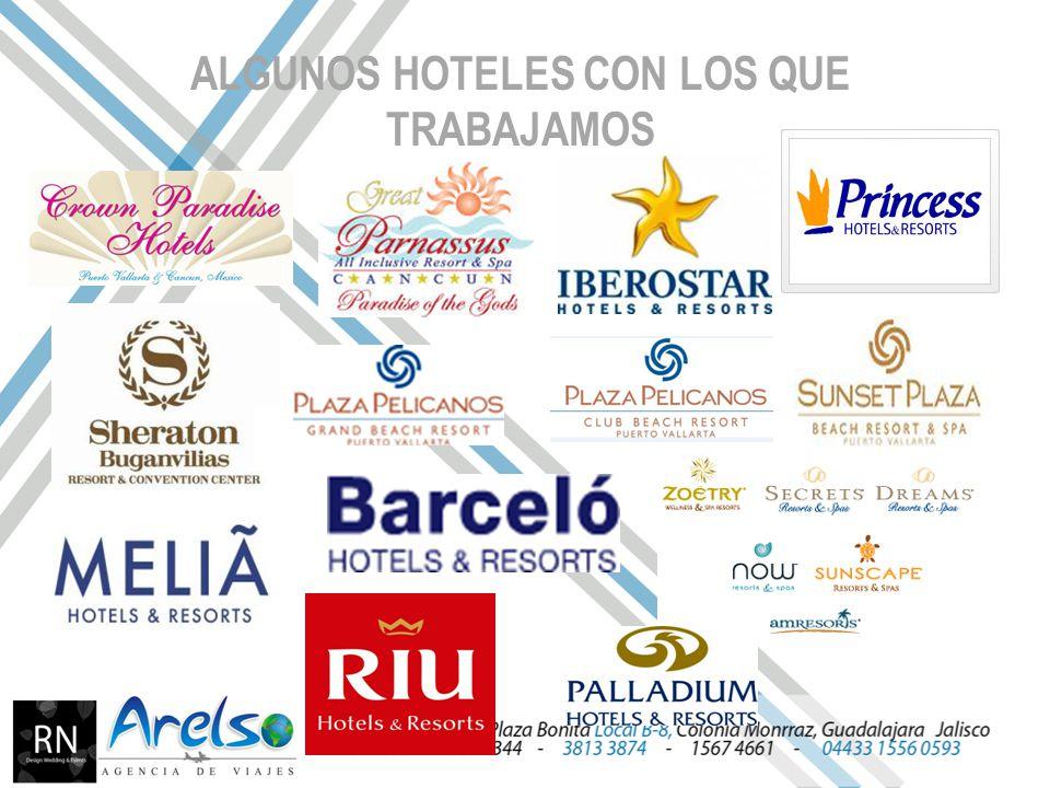 ALGUNOS HOTELES CON LOS QUE TRABAJAMOS