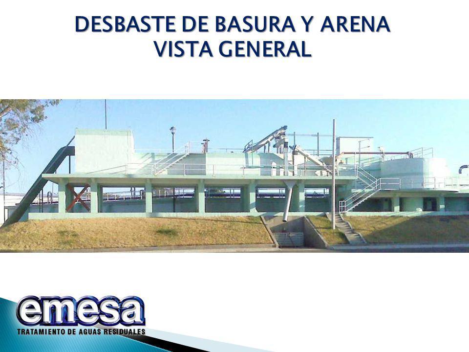 DESBASTE DE BASURA Y ARENA VISTA GENERAL