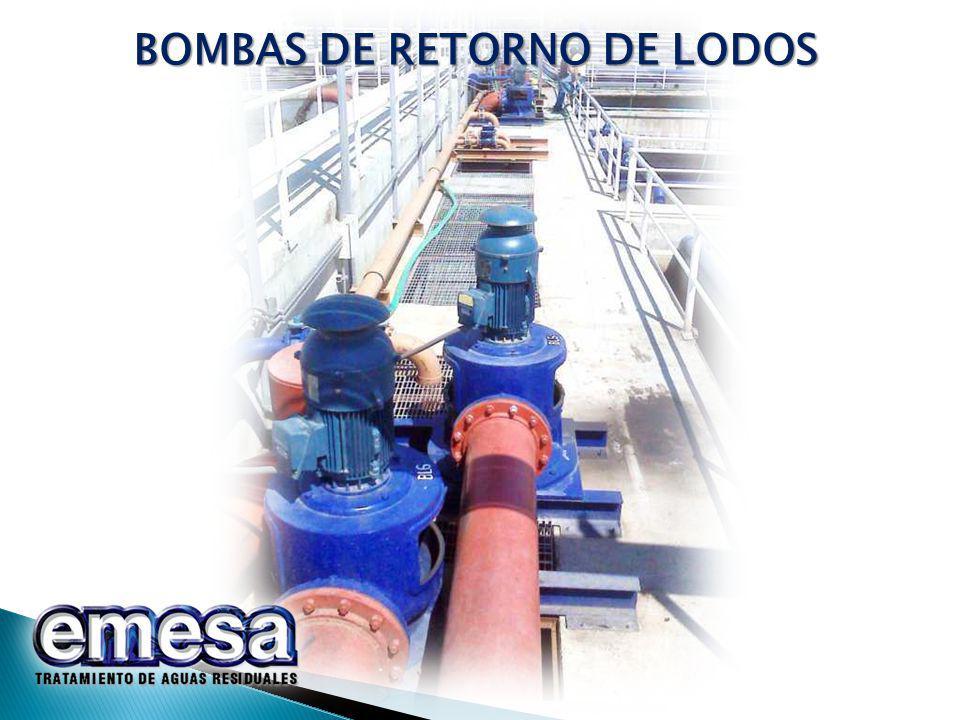 BOMBAS DE RETORNO DE LODOS