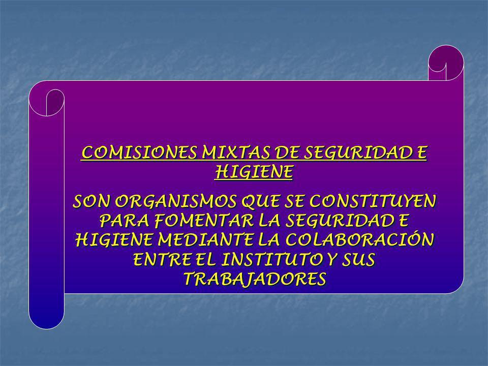 OBJETIVO ES INVESTIGAR LAS CAUSAS DE LOS RIESGOS DE TRABAJO, PROPONER MEDIDAS PREVENTIVAS CON EL FIN DE EVITAR LA OCURRENCIA DE ÉSTOS, VIGILAR EL CUMPLIMIENTO EN EL ÁMBITO INSTITUCIONAL Y COADYUVAR AL FOMENTO DE LA SALUD Y MEJORAMIENTO DE LA CALIDAD DE VIDA DE LOS TRABAJADORES Y SU FAMILIA OBJETIVO ES INVESTIGAR LAS CAUSAS DE LOS RIESGOS DE TRABAJO, PROPONER MEDIDAS PREVENTIVAS CON EL FIN DE EVITAR LA OCURRENCIA DE ÉSTOS, VIGILAR EL CUMPLIMIENTO EN EL ÁMBITO INSTITUCIONAL Y COADYUVAR AL FOMENTO DE LA SALUD Y MEJORAMIENTO DE LA CALIDAD DE VIDA DE LOS TRABAJADORES Y SU FAMILIA