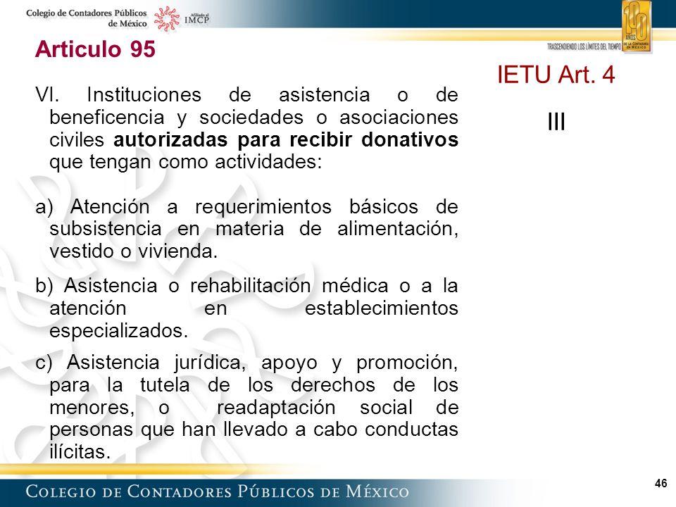 46 Articulo 95 VI.