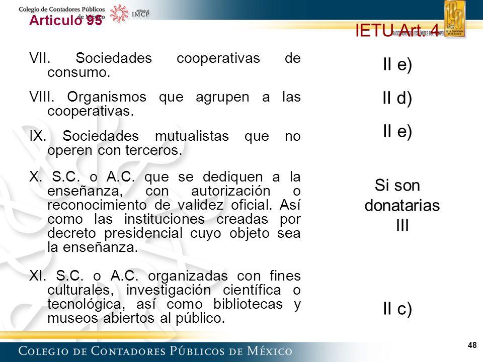 48 Articulo 95 VII.Sociedades cooperativas de consumo.