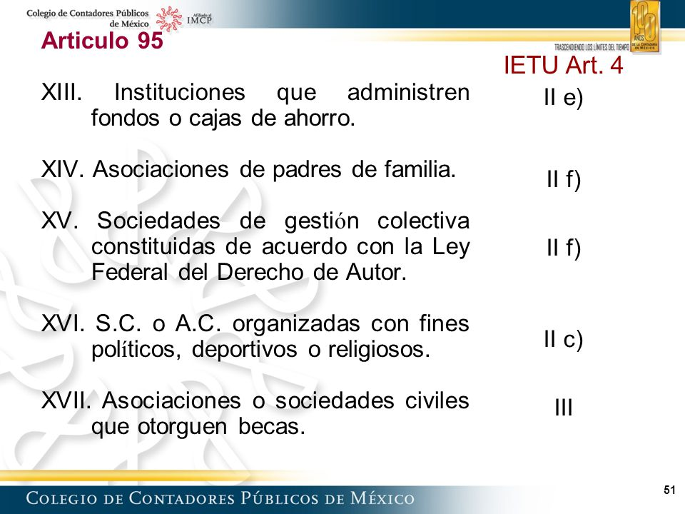 51 Articulo 95 XIII.Instituciones que administren fondos o cajas de ahorro.