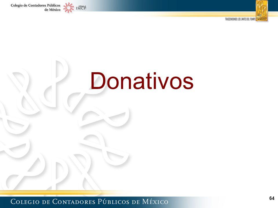 64 Donativos