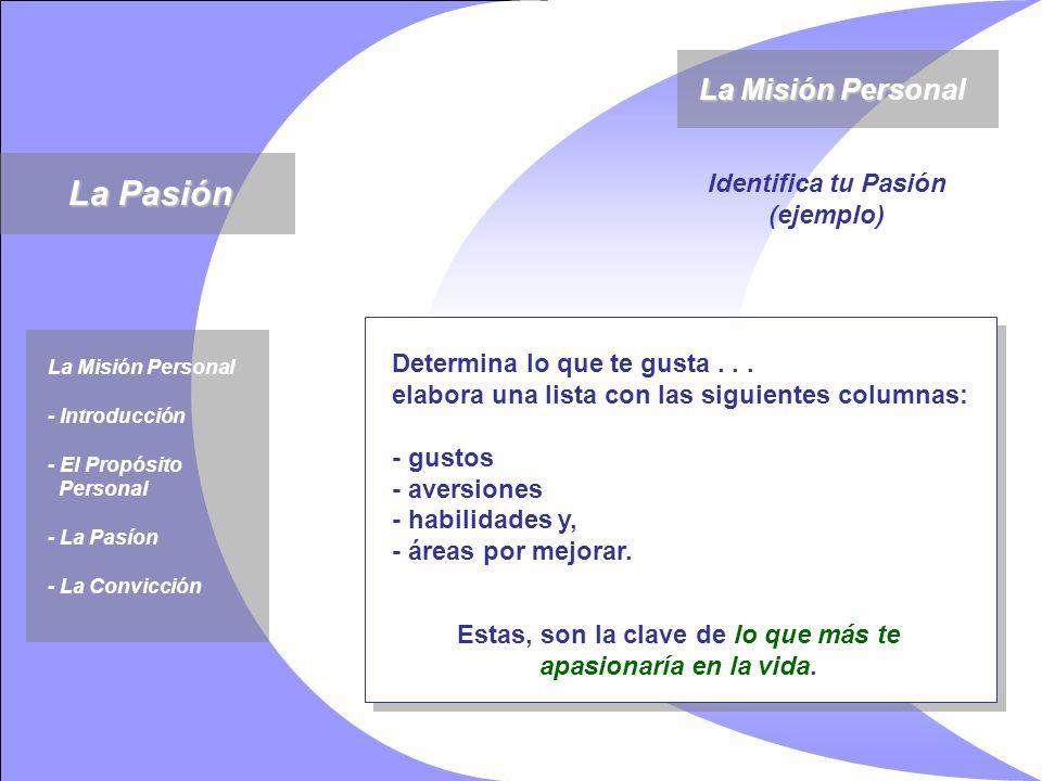 Determina lo que te gusta... elabora una lista con las siguientes columnas: - gustos - aversiones - habilidades y, - áreas por mejorar. La Misión Pers