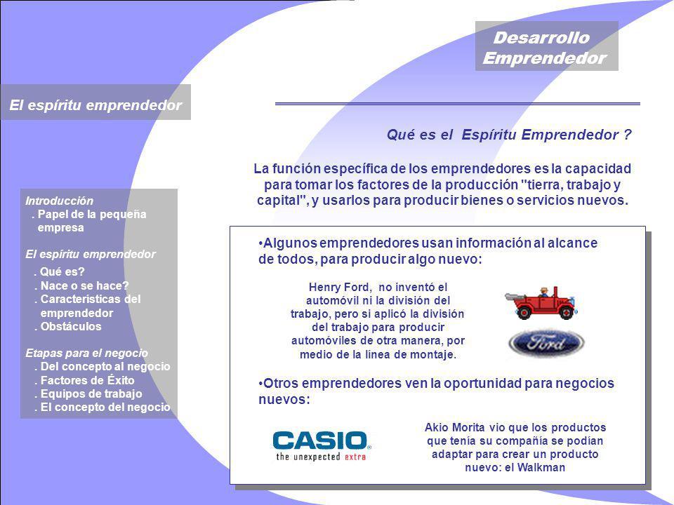 Desarrollo Emprendedor Qué es el Espíritu Emprendedor .