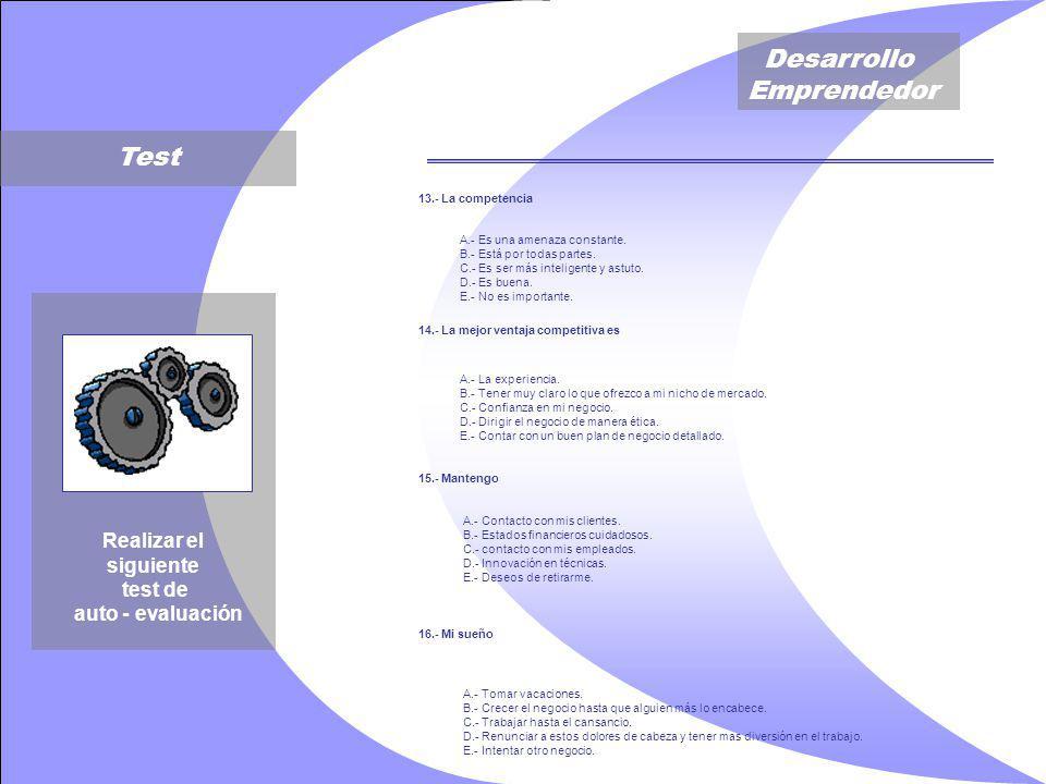 Desarrollo Emprendedor 13.- La competencia A.- Es una amenaza constante.