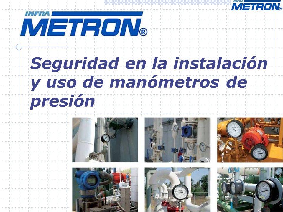 Introducción La seguridad es una consideración muy importante en la selección, instalación y uso de manómetros de presión.