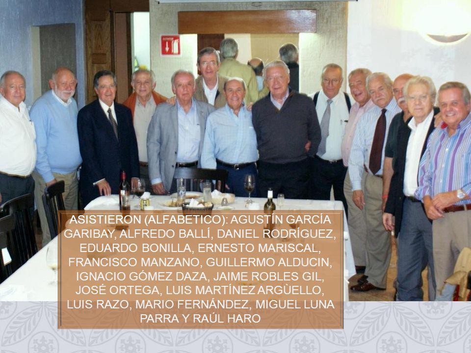Planta alta del Restaurante COMIDA MENSUAL PAJARES Dedicado a todos los Exalumnos del INSTITUTO PATRIA Guillermo Alducin Varela Coordinador Gen 58 FOTOHISTORIA 5 de Septiembre de 2013