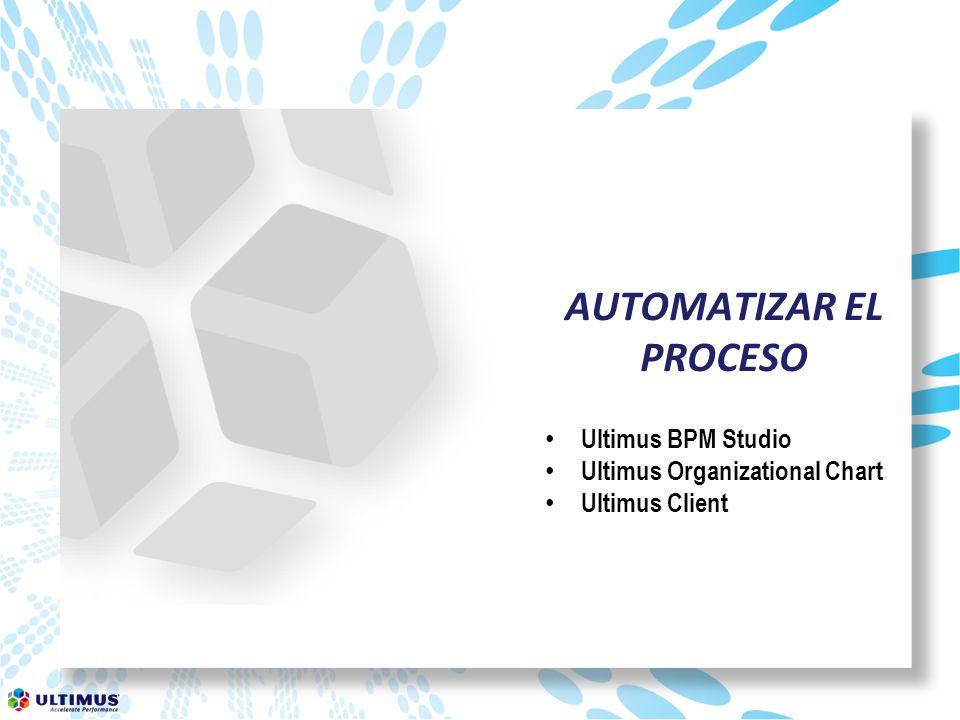 AUTOMATIZAR EL PROCESO Ultimus BPM Studio Ultimus Organizational Chart Ultimus Client