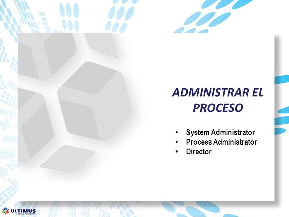 ADMINISTRAR EL PROCESO System Administrator Process Administrator Director
