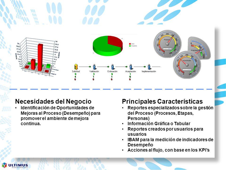 Necesidades del Negocio Identificación de Oportunidades de Mejoras al Proceso (Desempeño) para promover el ambiente de mejora continua.