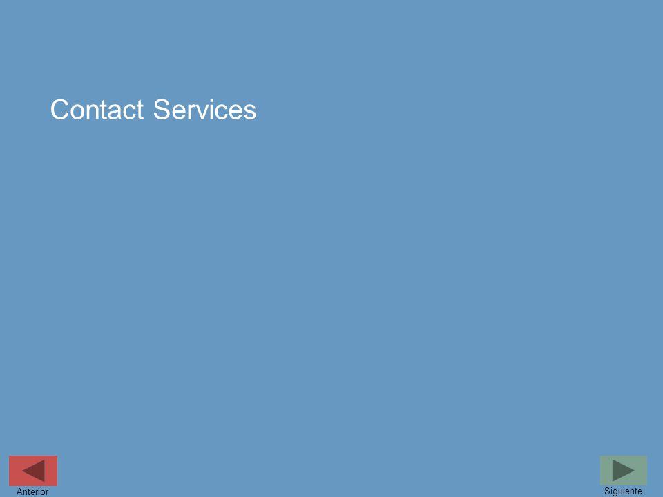 Contact Services Siguiente Anterior
