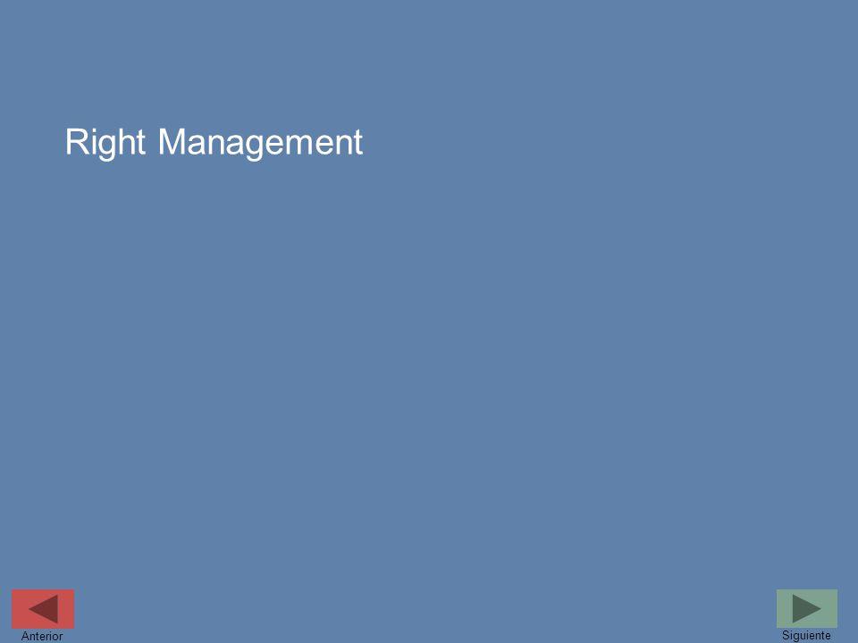 Right Management Siguiente Anterior