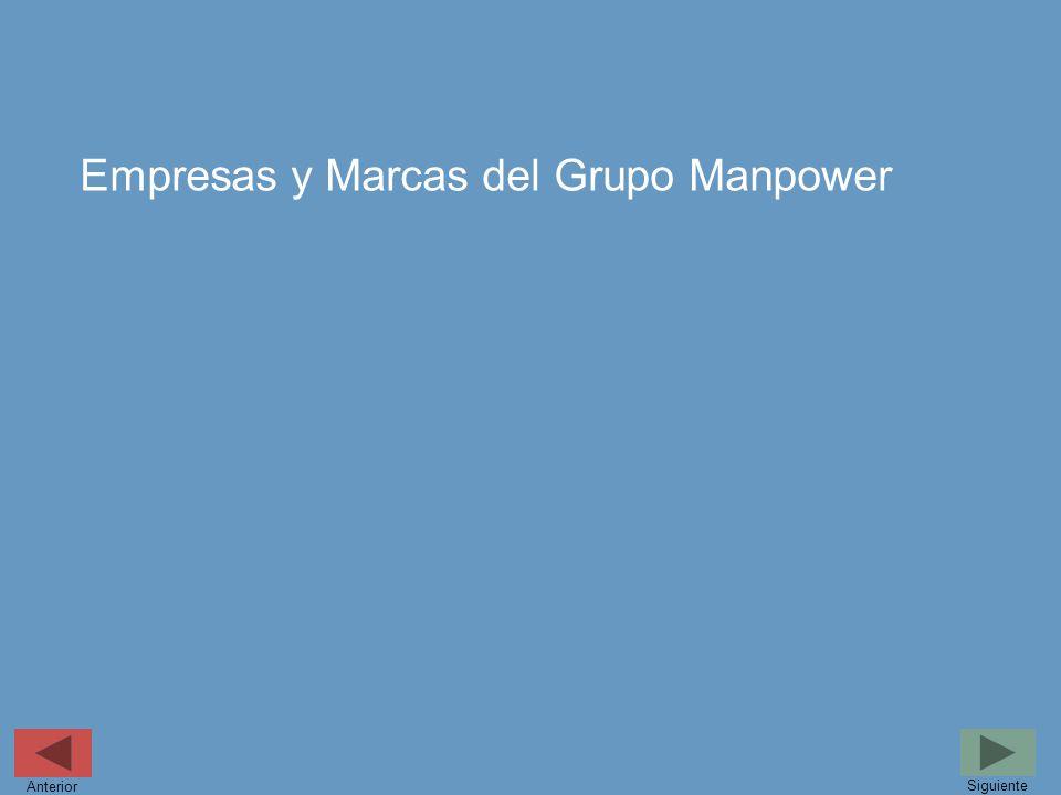 Empresas y Marcas del Grupo Manpower Siguiente Anterior