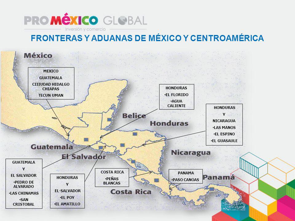 GUA SAL TGU MEX SAP MGA SJO PTY 1250 Km 360 Km 1600 Km 335 Km 240 Km 580 Km 454 Km 950 Km Fuente: Ceva Logistics Guatemala DISTANCIAS ENTRE MÉXICO Y CENTROAMÉRICA