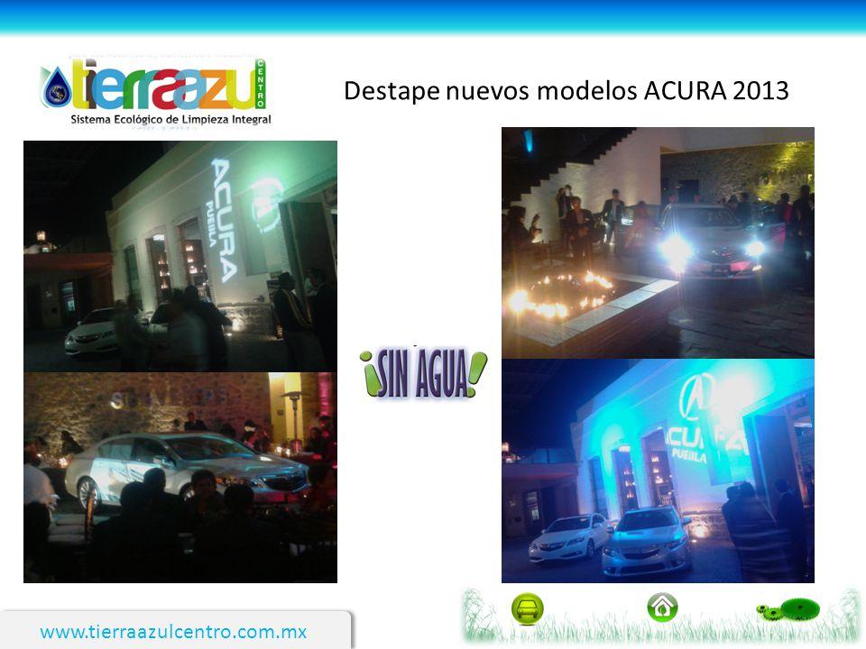 www.tierraazulcentro.com.mx Destape nuevos modelos ACURA 2013