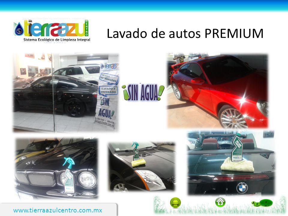 www.tierraazulcentro.com.mx Lavado de autos PREMIUM