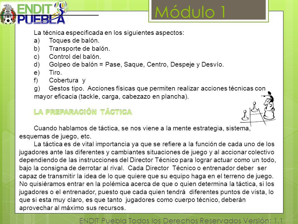 Módulo 1 ENDIT Puebla Todos los Derechos Reservados Versión: 1.1 [1