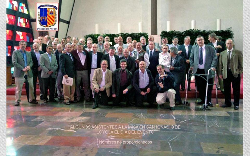 Palabras de Mario Chávez pronunciadas en el interior de San Ignacio de Loyola: Estimados compas: Reverendos Padres: Antonio Ortíz Paniagua S.J., Eugen