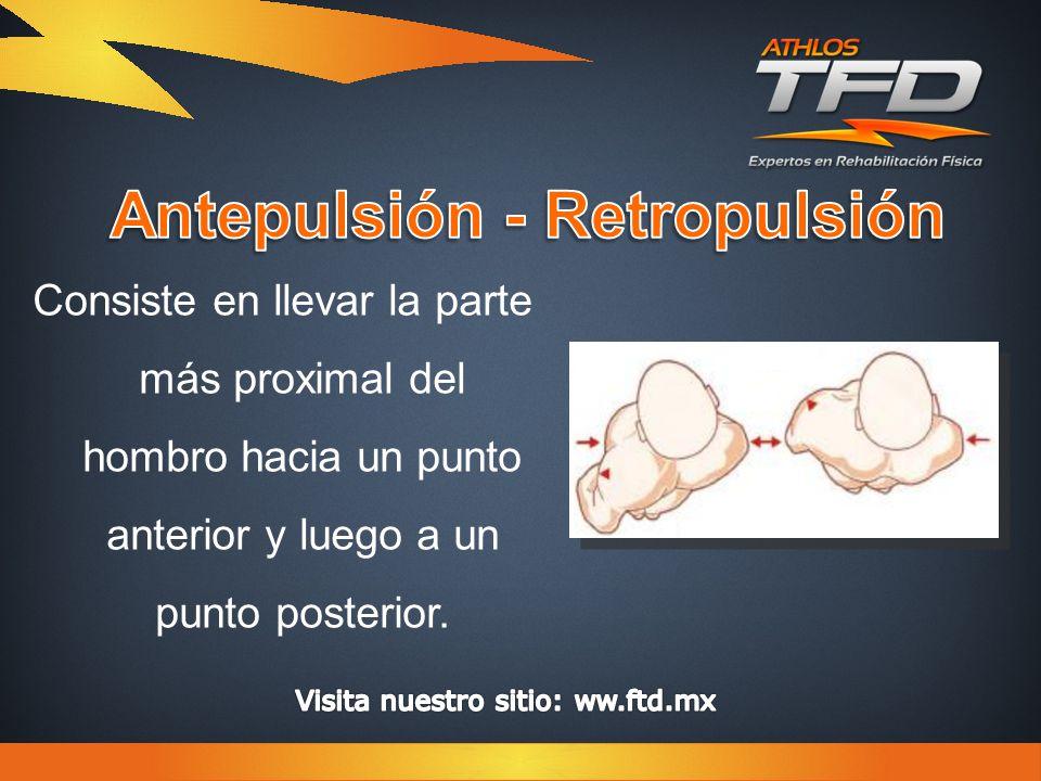 Consiste en llevar la parte más proximal del hombro hacia un punto anterior y luego a un punto posterior.