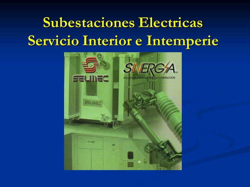 Catálogo de Productos Subestaciones Selmec Catálogo de Productos Subestaciones Selmec Proseel del Sureste Tel.943-13-23 985-94-46. E-Mail: proseel@cab