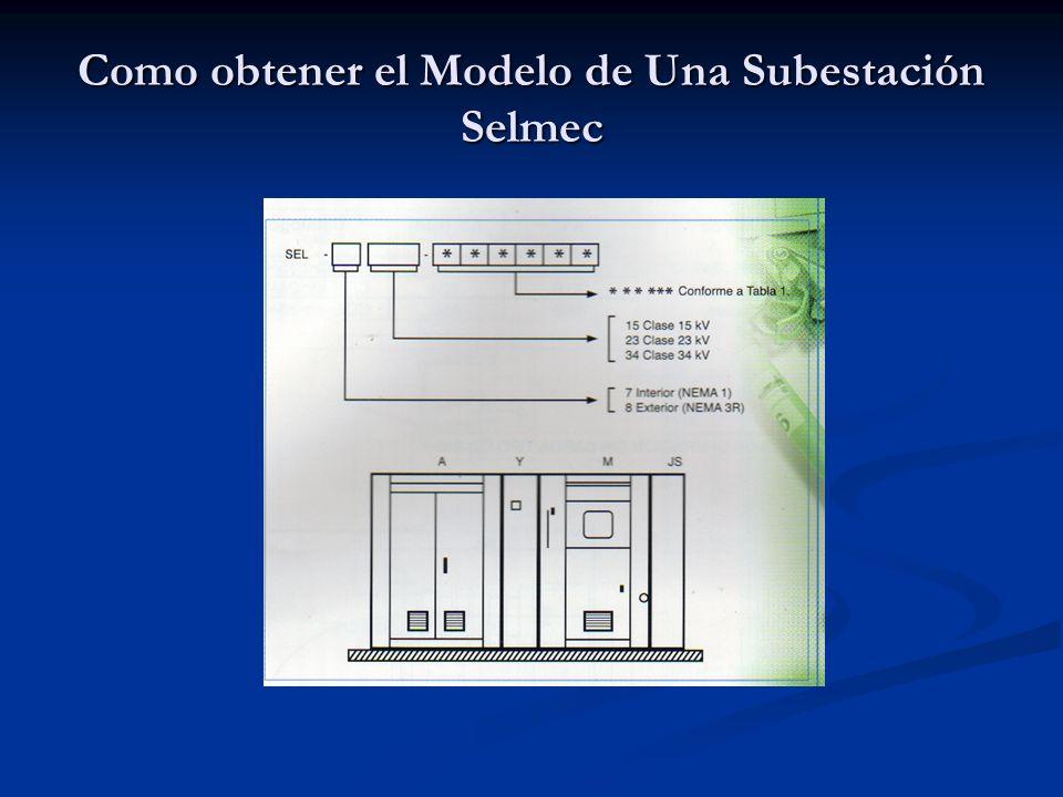 Nomenclatura de las diferentes secciones de una subestación Selmec con sus diagramas unifilares Tabla No.