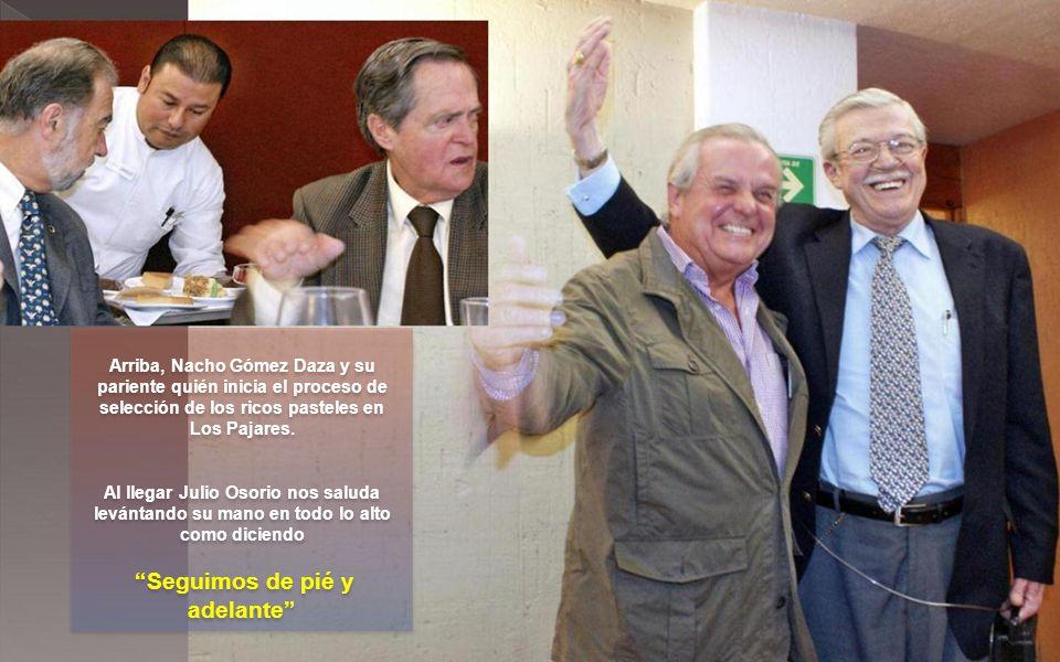 A la izquierda Alberto Sánchez Llorente.A su izquierda una foto al espejo.