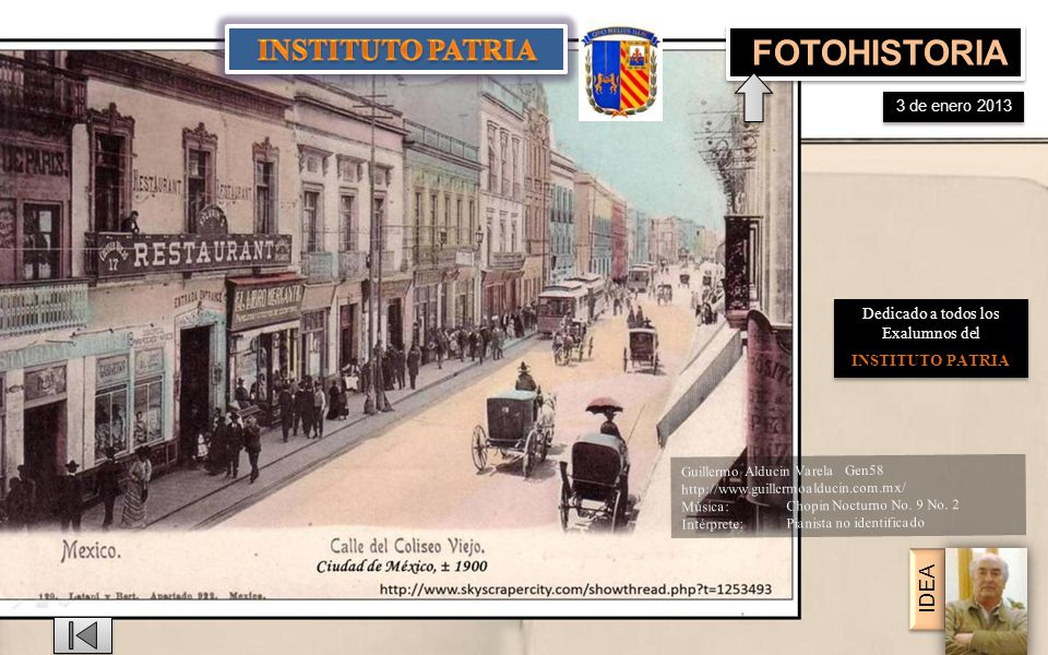 Instituto Científico de San Francisco de Borja . MASCARONES Fotos 1910 y 2012