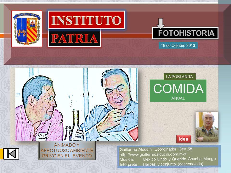 FOTO EN LA POBLANITA EN SU COMIDA ANUAL DE LOS EXALUMNOS DE SECUNDARIA DEL INSTITUTO PATRIA GEN1965-1971 EL 19 DE OCTUBRE DEL AÑO DE 2012