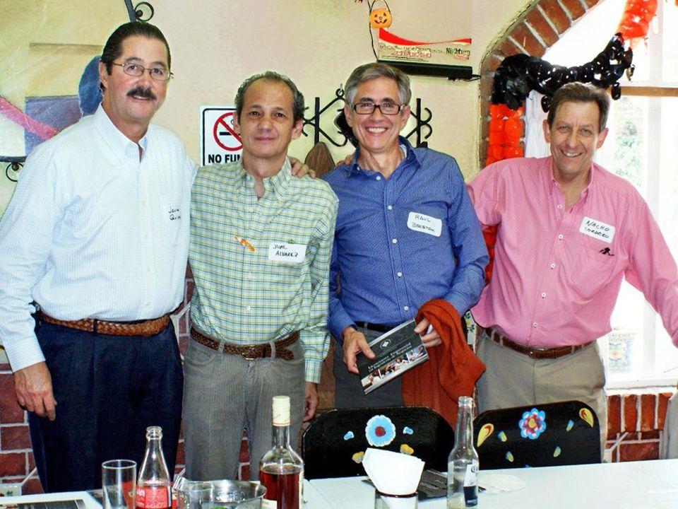 FILA SENTADOS: JAIME ALVAREZ, JORGE QUINTANILLA, RAFAEL LÓPEZ MENESES, ANGEL LOZADA, EDUARDO TORRES ARPI Y JUAN JOSÉ MADERO.
