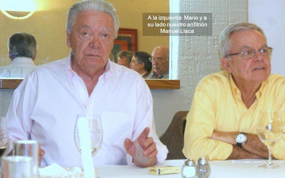 Los ex 58 en la sobremesa; muy tranquilos, hacen sus comentarios a lo reciente