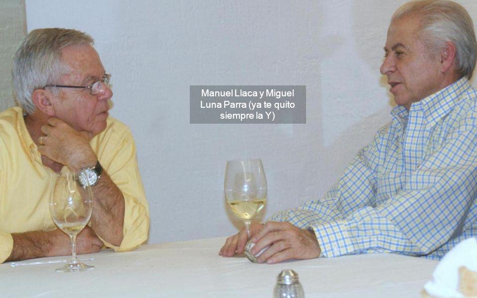 A la izquierda Mario y a su lado nuestro anfitrión Manuel Llaca