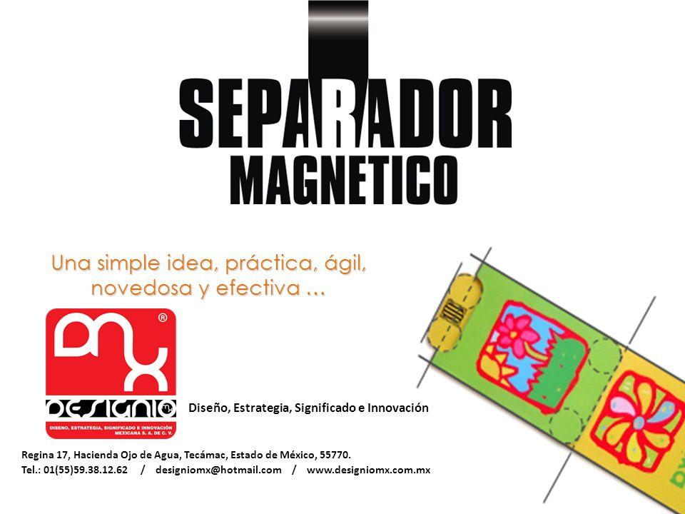 Una simple idea, práctica, ágil, novedosa y efectiva … Diseño, Estrategia, Significado e Innovación Regina 17, Hacienda Ojo de Agua, Tecámac, Estado de México, 55770.