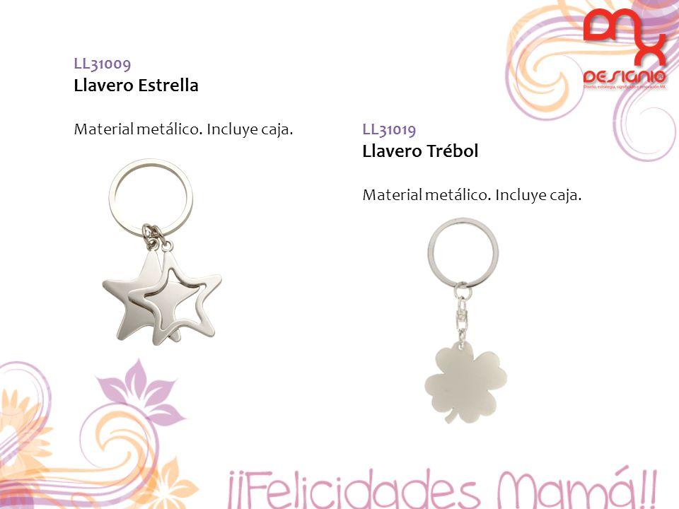 LL31009 Llavero Estrella Material metálico. Incluye caja. LL31019 Llavero Trébol Material metálico. Incluye caja.