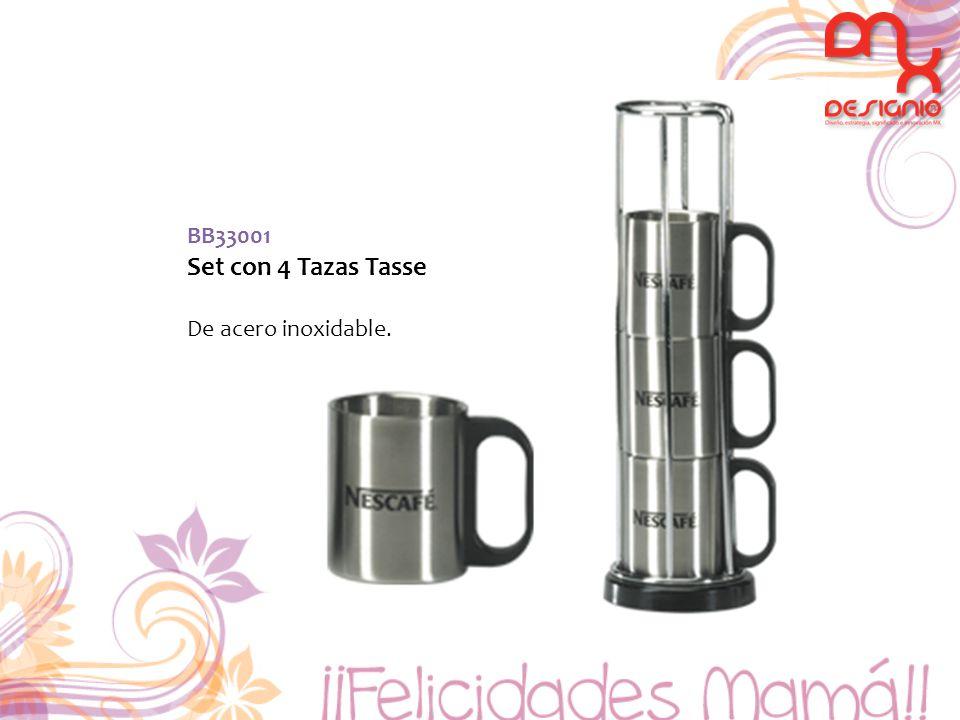BB33001 Set con 4 Tazas Tasse De acero inoxidable.