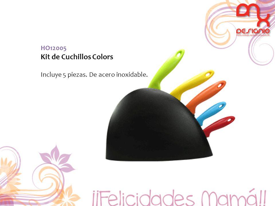 HO12005 Kit de Cuchillos Colors Incluye 5 piezas. De acero inoxidable.