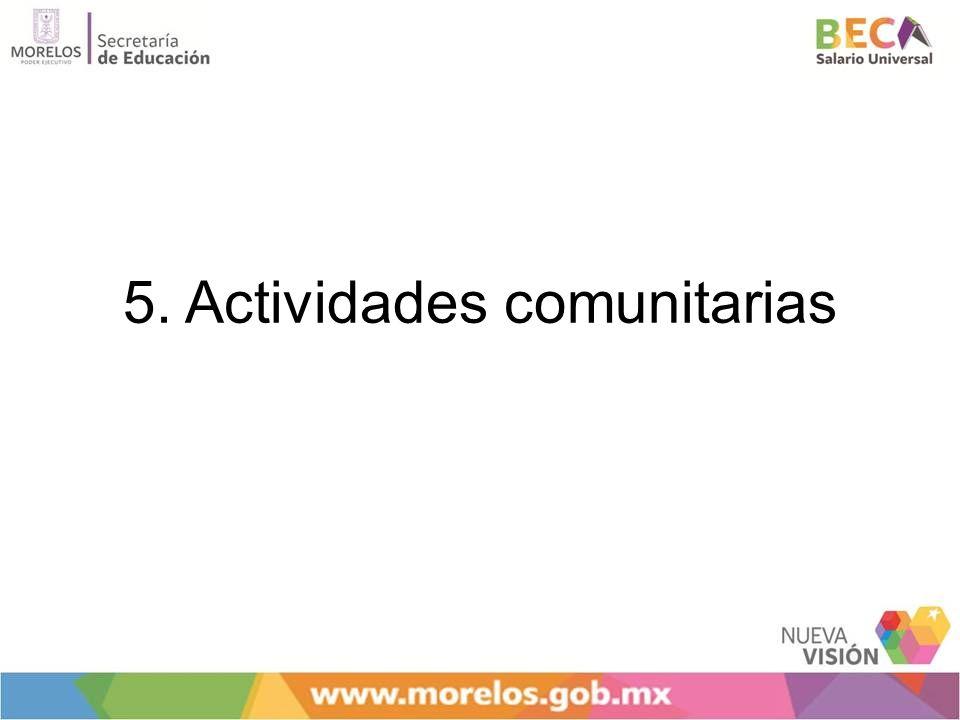 5. Actividades comunitarias