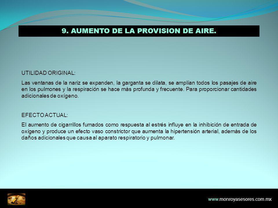 9.AUMENTO DE LA PROVISION DE AIRE.