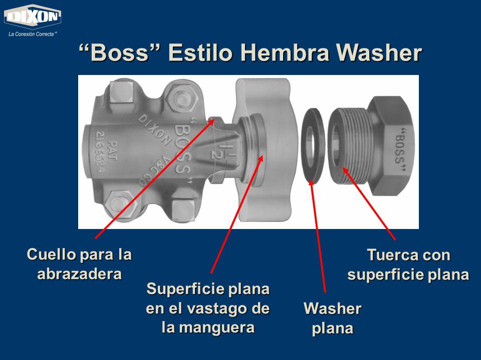 Boss Estilo Hembra Washer Tuerca con superficie plana Washer plana Superficie plana en el vastago de la manguera Cuello para la abrazadera