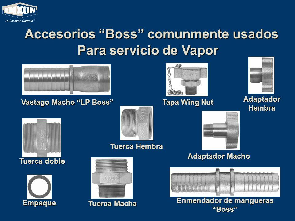 Accesorios Boss comunmente usados Vastago Macho LP Boss Enmendador de mangueras Boss Tuerca doble Empaque Tuerca Macha Tuerca Hembra Tapa Wing Nut Ada