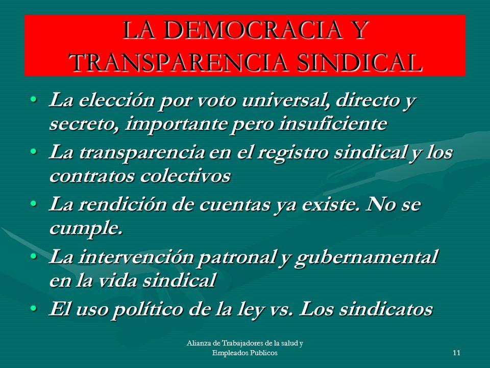 Alianza de Trabajadores de la salud y Empleados Publicos12 PROCESO LEGISLATIVO A MODO PATRONAL Secuestro de la voluntad popular.