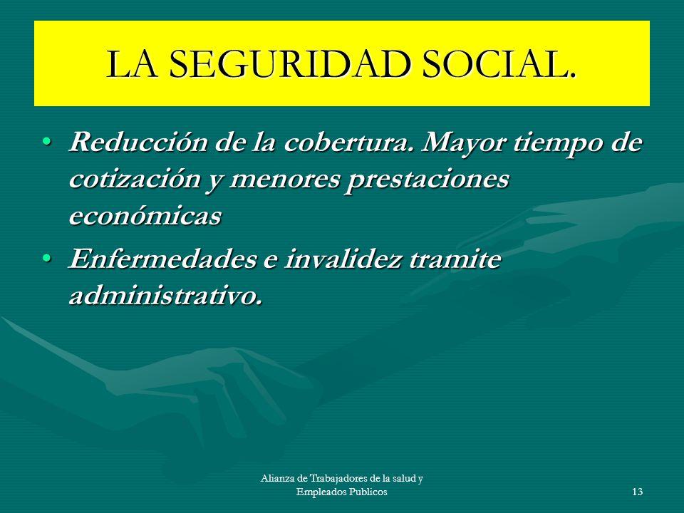 Alianza de Trabajadores de la salud y Empleados Publicos14 EL SISTEMA UNIVERSAL DE SALUD Y SEGURIDAD SOCIAL EL supuesto SISTEMA UNIVERSAL DE SALUD Y SEGURIDAD SOCIAL Impuesto general del IVA.