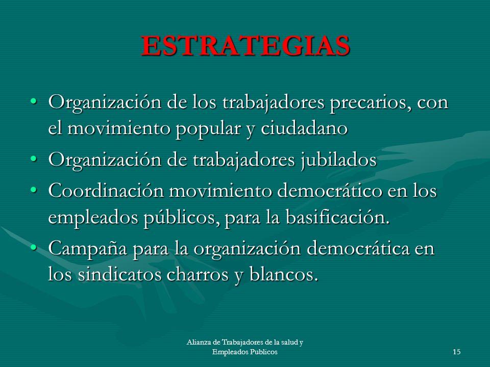 Alianza de Trabajadores de la salud y Empleados Publicos16 Tareas Movilización al Senado.Movilización al Senado.