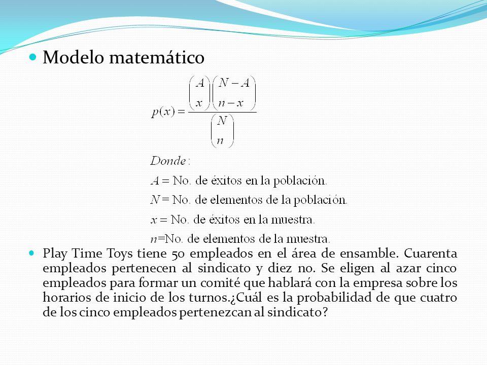 Modelo matemático Play Time Toys tiene 50 empleados en el área de ensamble.