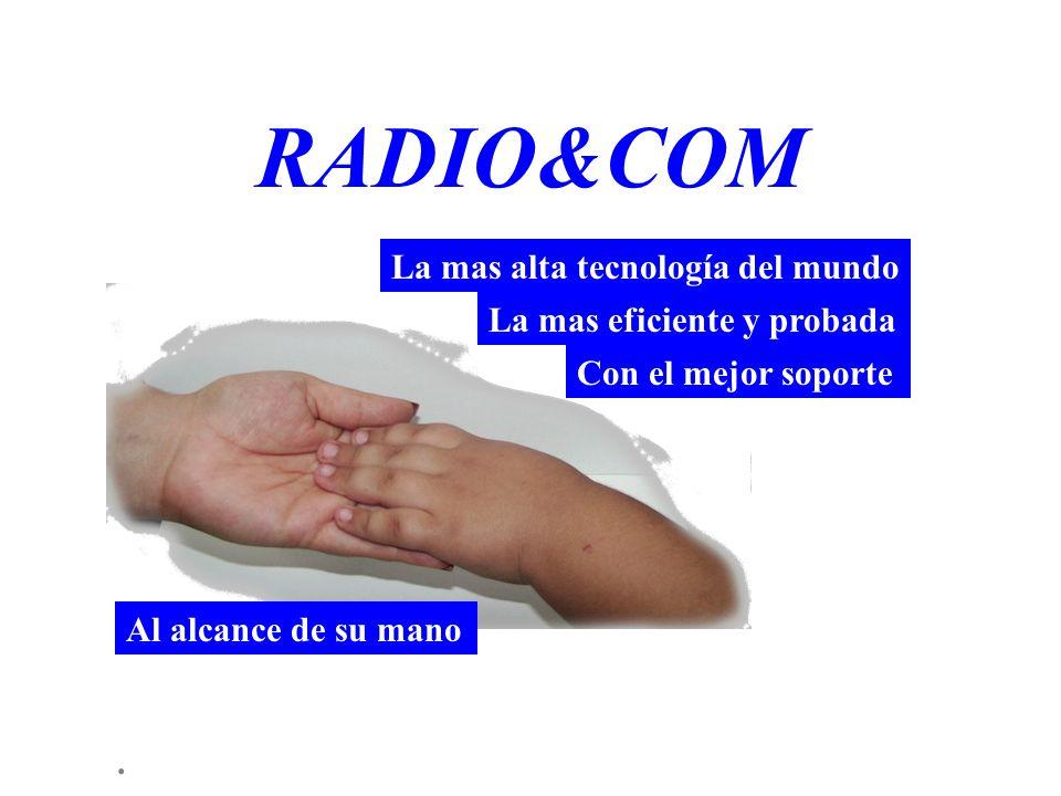 . RADIO&COM Al alcance de su mano La mas alta tecnología del mundo La mas eficiente y probada Con el mejor soporte